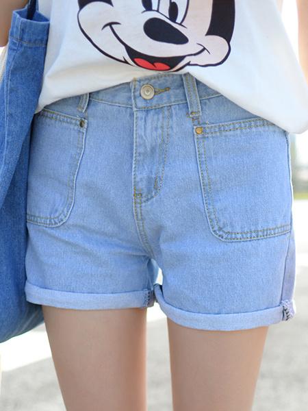 牛仔裤,夏季,显瘦,裤子,韩版