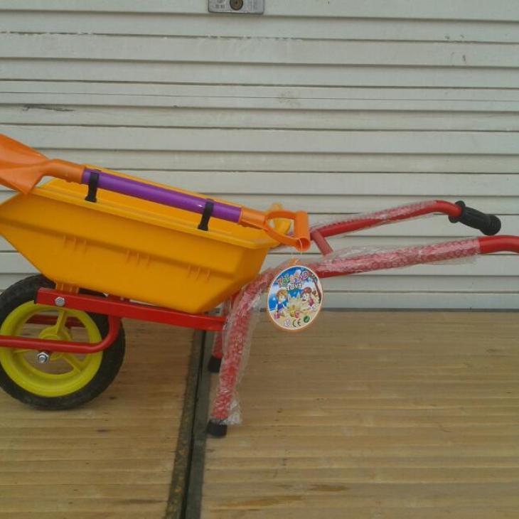 新款特价 儿童沙滩玩具车 特大号玩沙挖沙车 沙滩独轮车幼儿推车
