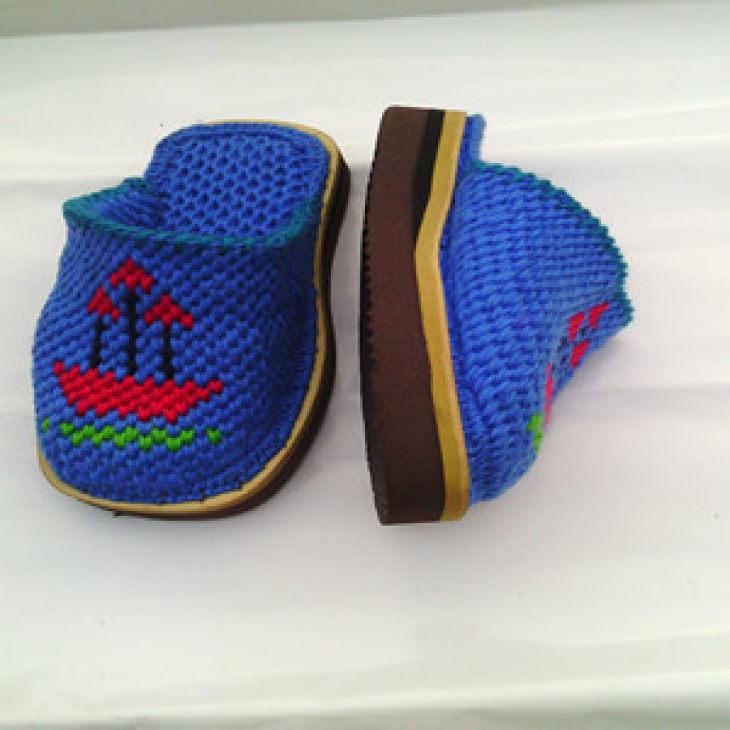 纯手工 勾花 毛线拖鞋 舒适 健康 男鞋 女鞋 儿童鞋 鞋 勾好拖鞋