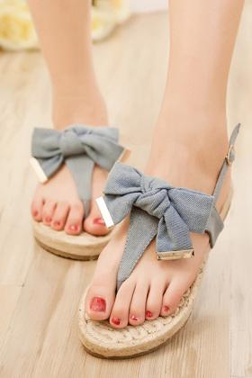 水仙花拖鞋的编织图解