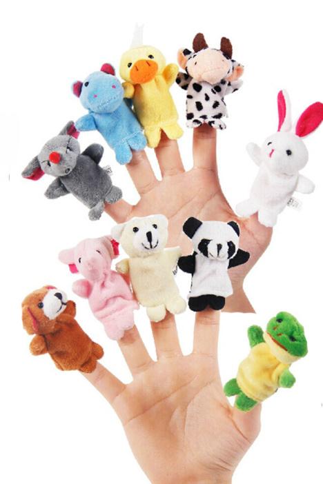 【逗娃安抚讲故事】*安抚指套益智小动物手偶娃娃玩偶10件套