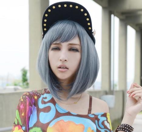【卡通动漫人物cos假发女生短发】-无类目-美妆工具