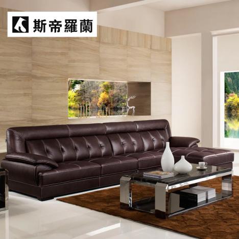 斯帝罗兰真皮沙发 欧式现代进口