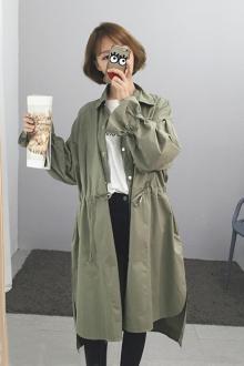 韩款风衣外套_男风衣外套中长款图片