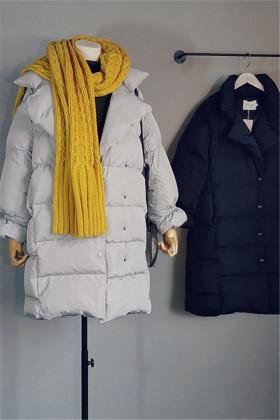微胖女孩冬季穿衣中长款棉衣最显瘦