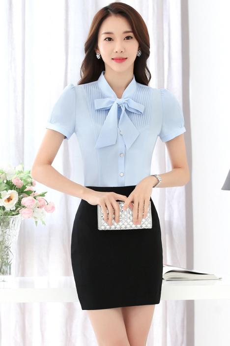 售楼员工作��o�_云之蝶女衬衫售楼员衬衣女士正装时尚工作服学生韩版工装职业套裙