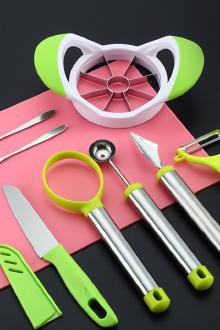 八件套水果拼盘工具套装多功能切苹果神器西瓜挖球器雕花刀水果刀$