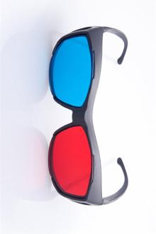 3d红蓝眼镜红蓝格式影片专用3D眼镜暴风影音眼镜买一送一$20.23-