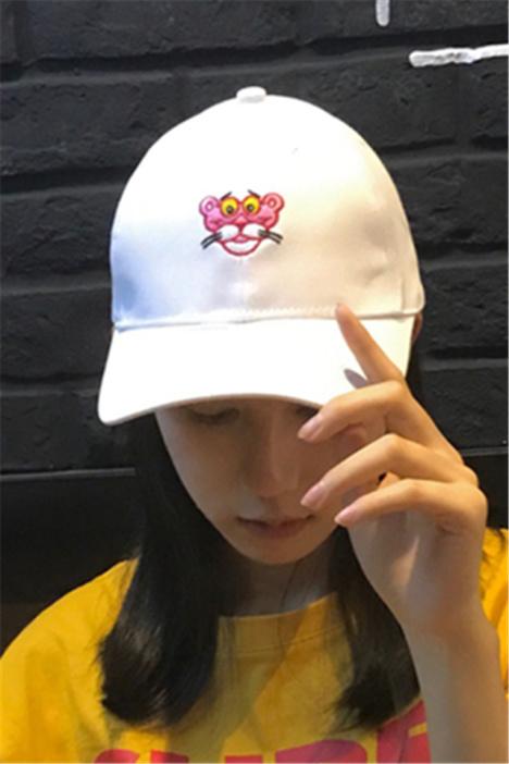韩版帽子女春夏天甜美可爱老虎头棒球帽百搭休闲学生鸭舌帽遮阳帽