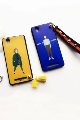 日韩女孩金立F103手机壳s8挂绳畅享5酷派Y75硅胶软防摔$19.46-f2卡