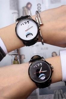 韩版时尚流行学生表时装表皮带百搭手表男石英表防水休闲情侣手表$24.5图片