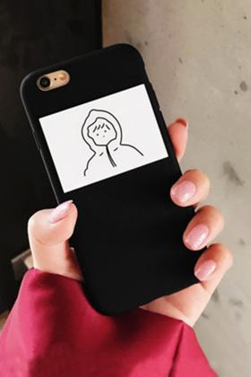 简约风卫衣卡通苹果7/6Sp/5S/4S全包5C情侣手机壳$15.8-苹果4s手机