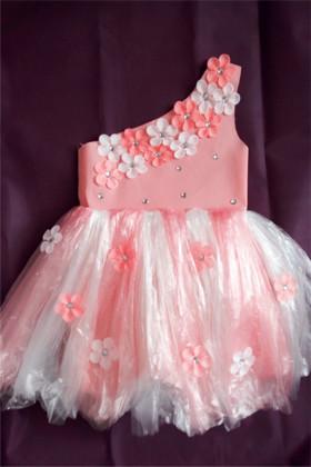 新款儿童环保服diy手工制作时装秀演出服幼儿园服装女亲子走秀裙