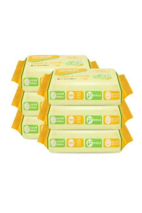 【主播福利】可爱多婴儿木糖醇湿巾25片便携随身装6包150抽