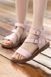 女童凉鞋儿童公主鞋中大童宝宝沙滩鞋韩版新款童凉鞋小女孩罗马鞋$