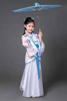儿童古装服装仙女公主童唐朝贵妃服汉服女童古代衣服古筝演出服装$