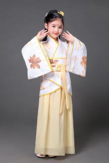 新款儿童汉服曲裾服女童古装服装公主服改良汉服影楼写真古装夏款$