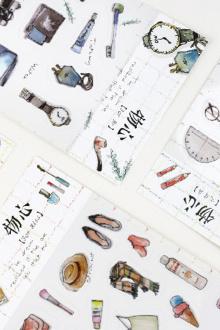 韩国复古手帐贴纸相册日记装饰贴小清新手机贴纸手账卡通贴纸$3.89-
