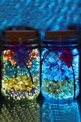 空瓶漂流瓶荧光折纸玻璃瓶生日礼物$9.9-创意玻璃瓶花瓶搭配图片 图片