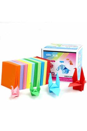 元浩儿童手工折纸彩纸彩色手工纸正方形千纸鹤折纸DIY手工益智$19.