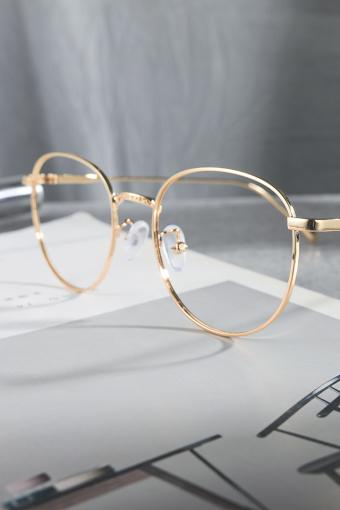 复古金丝眼镜框细边女金属眼镜架大小脸圆框男女平光镜眼镜架