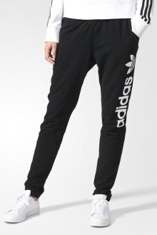 adidas 阿迪达斯 三叶草 女子 运动裤 黑aj7666