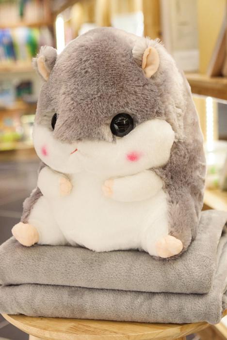 可爱被子零食豚鼠公仔女生毯创意空调布娃娃抱枕礼物仓鼠生日儿童多肉有蚊子图片