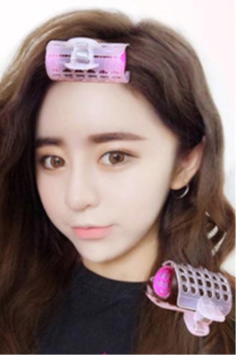 韩国空气刘海不伤发卷发夹梨花大卷内扣发卷卷发筒自粘卷发器