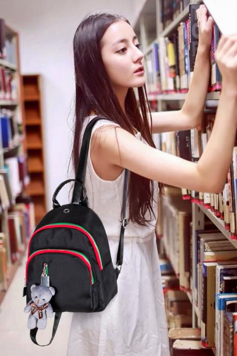迪丽热巴明星同款包包2017新款女包韩版双肩包休闲百搭小背包 -包包