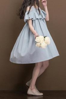 韩版娃娃裙夏女