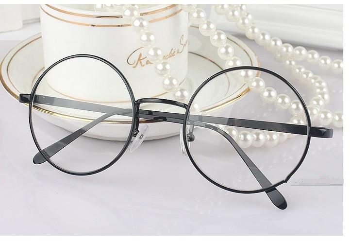 鹿晗白敬亭同款框架眼镜复古眼镜框韩版男女款圆框平光眼镜