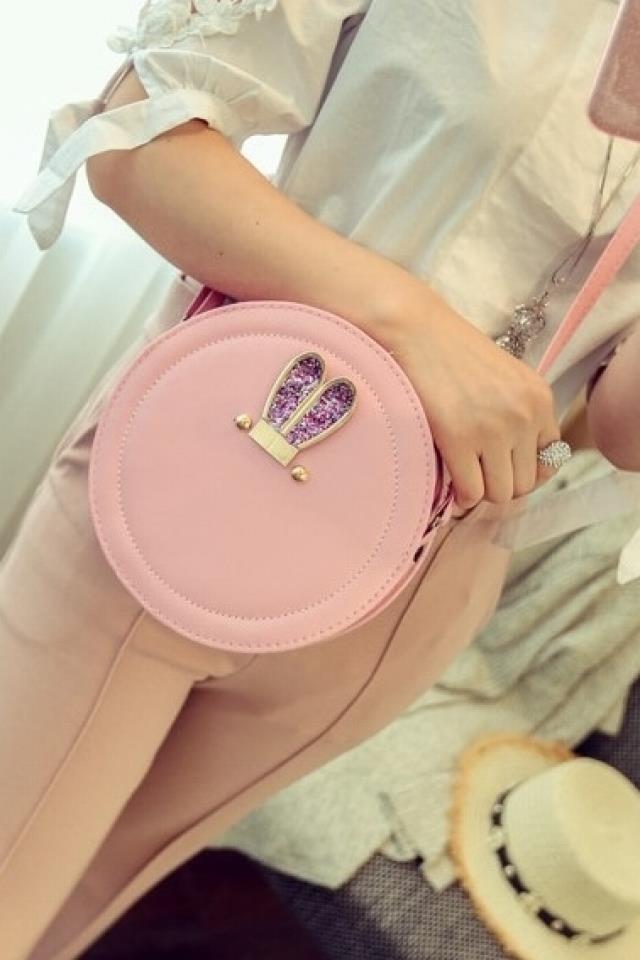 Female bag 2017 new cartoon round pack shoulder bag female version cute small round bag messenger bag mini Bag