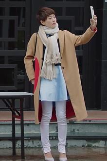 明星同款羊绒大衣