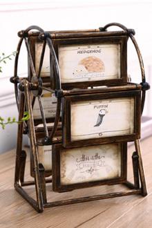 欧式摩天轮相框装饰品摆件家居客厅房间卧室电视柜室内小摆设$35-图片