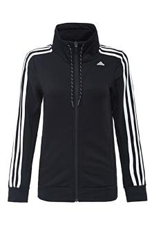 adidas阿迪达斯秋季新款运动型女子休闲立领针织茄克外套黑$407.32