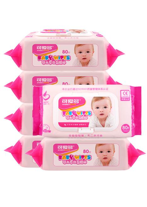 80抽可爱多婴儿手口柔湿巾(盖装) 80抽*6包