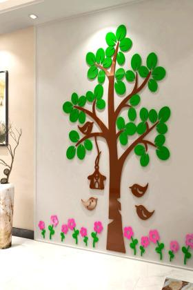 儿童房大树3d立体墙贴客厅托管班装饰幼儿园主题墙环境布置贴画