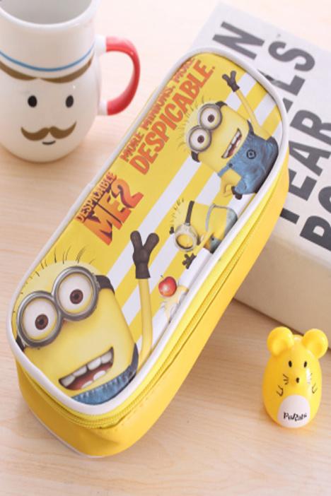 韩国创意可爱简约女生多层大容量多功能小学生皮笔袋文具盒铅