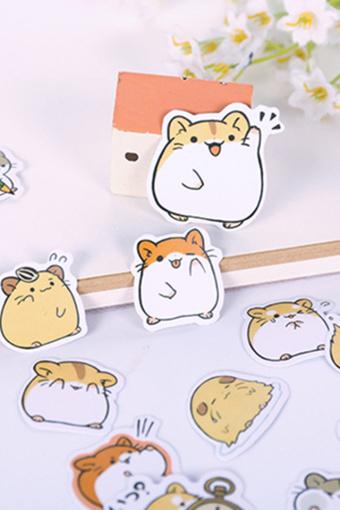 日韩手账贴纸 line表情贴纸 手帐周边纸包 卡通动物美食贴