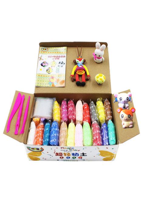 母婴 彩泥 橡皮泥 彩泥 手工制作 仿真 过家家玩具 玩具 模型 动漫 早教 益智 母婴用品 七彩虹生活 蘑菇街优店
