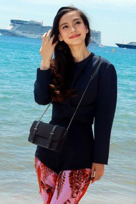 杨颖明星同款包包新款斜跨包时尚女包休闲韩版单肩包链条百搭小包