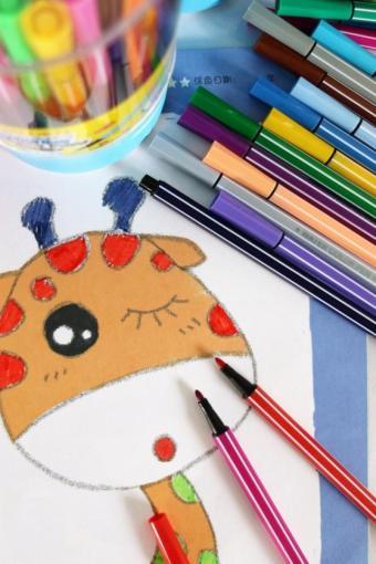 得力水彩笔36色彩色笔儿童幼儿彩笔画笔无毒可水洗24色水彩笔
