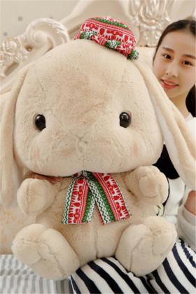 可爱垂耳兔毛绒玩具公仔小白兔子玩偶抱枕娃娃女生生日礼物送闺蜜