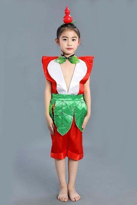 儿童葫芦娃运动舞蹈演出服装成人衣服环保表演服饰六一儿童节舞台幼儿