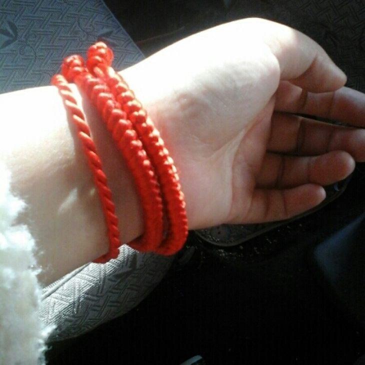 红绳手链,纯手工编制
