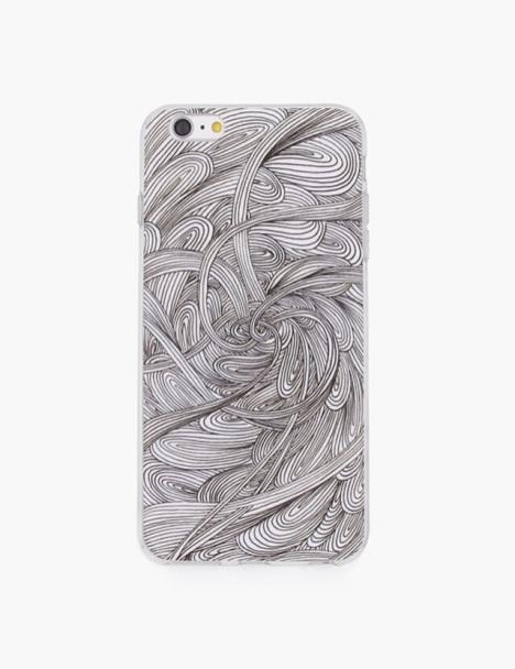 木与石原创手绘插画苹果手机壳《黑白记忆》系列