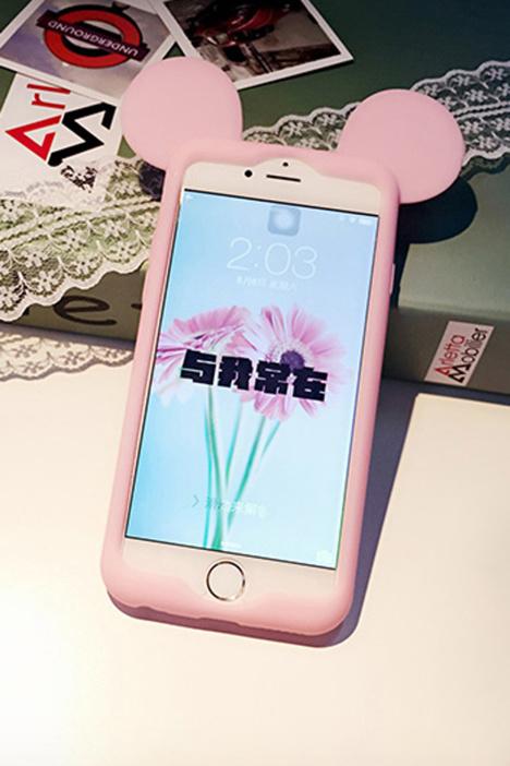 苹果iphone4/5/6/plus可爱迪士尼米奇硅胶边框套