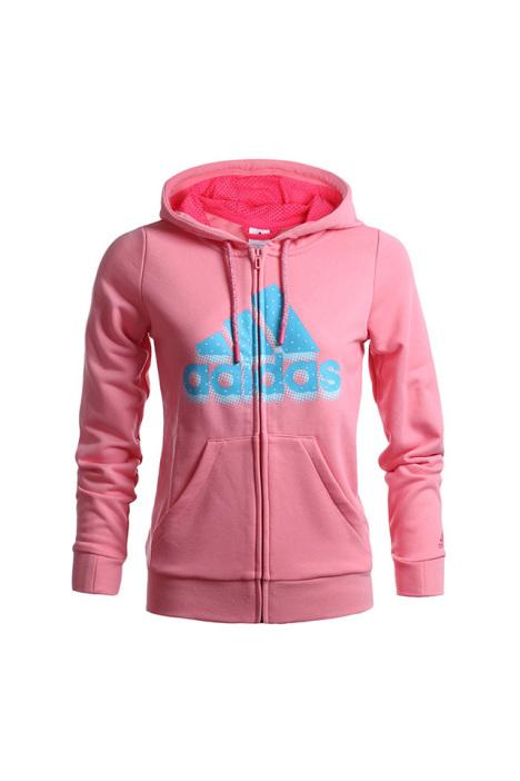 专柜正品adidas阿迪达斯外套女子秋季新款运动服连帽夹克