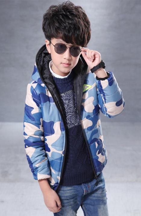 (萌宝爱潮)男中大童冬装新款加厚棉衣