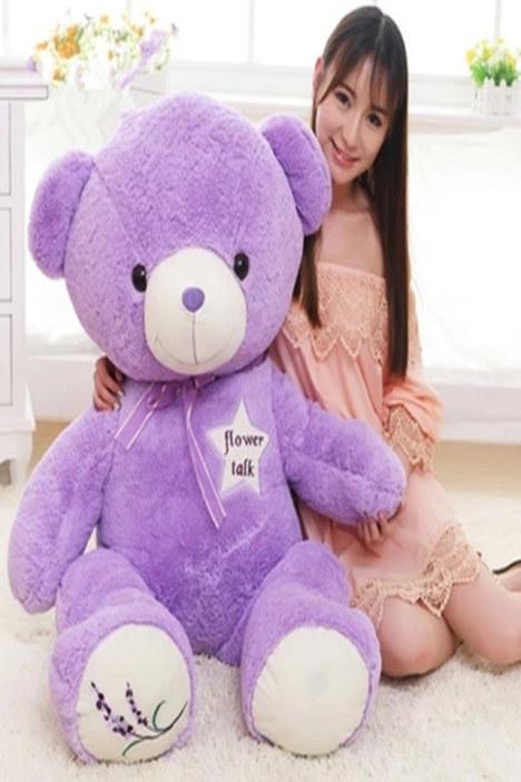 可爱紫色薰衣草抱抱熊公仔毛绒玩具布娃娃泰迪熊玩偶生日礼物女生